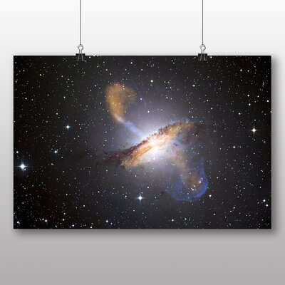 Big Box Art Centaurus Cluster Galaxy Space Graphic Art Wrapped on Canvas