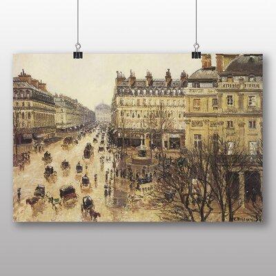 Big Box Art 'Theatre France in the Rain' by Camille Pissarro Art Print