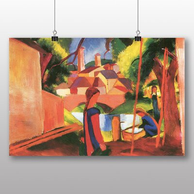 Big Box Art 'Walking to Town' by August Macke Art Print
