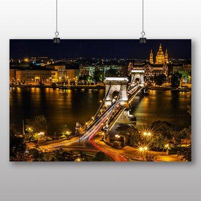 Big Box Art Chain Bridge Budapest Hungary Photographic Print