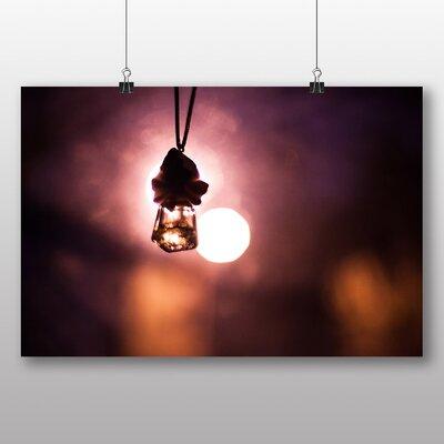 Big Box Art 'Blurred Lights Purple Abstract' Photographic Print