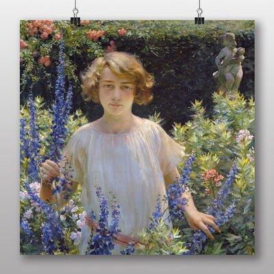 Big Box Art 'Girl in the Flowers' by Charles C. Curran Art Print