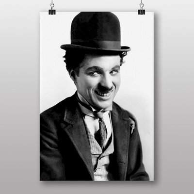 Big Box Art Charlie Chaplin No.1 Photographic Print on Canvas