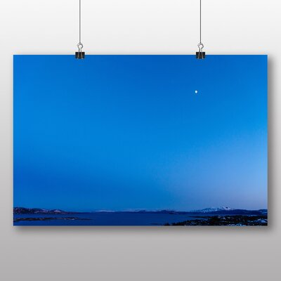 Big Box Art 'Blue Half Moon No.2' Photographic Print