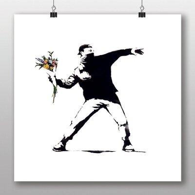 Big Box Art Flower Thrower by Banksy Art Print