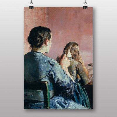 "Big Box Art ""Braiding Her Hair"" by Christian Krohg Art Print"