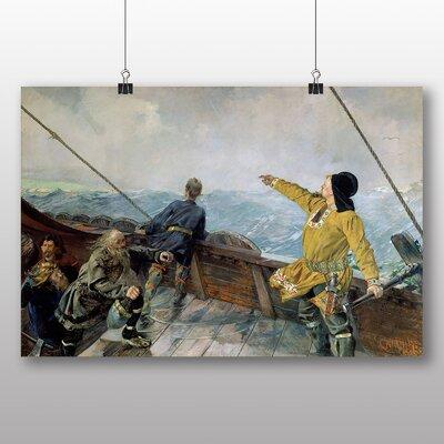 Big Box Art 'Leiv Eirikson Discovering America' by Christian Krohg Art Print