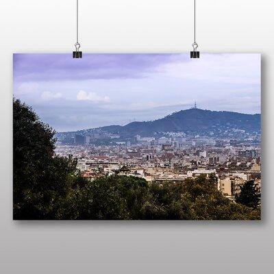 Big Box Art Barcelona Spain Landscape No.3 Photographic Print on Canvas