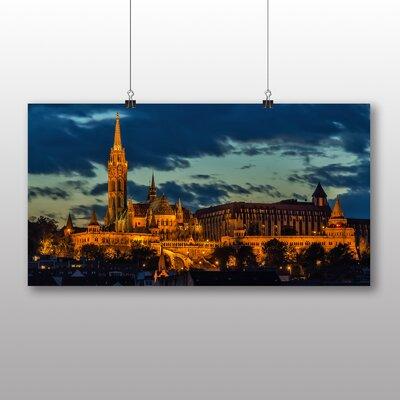 Big Box Art Budapest Hungary Photographic Print Wrapped on Canvas
