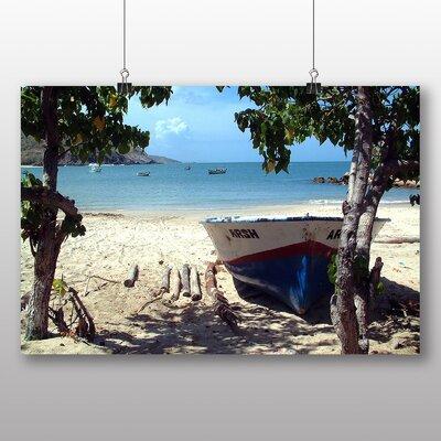 Big Box Art Boats Venezuela Beach No.1 Photographic Print Wrapped on Canvas