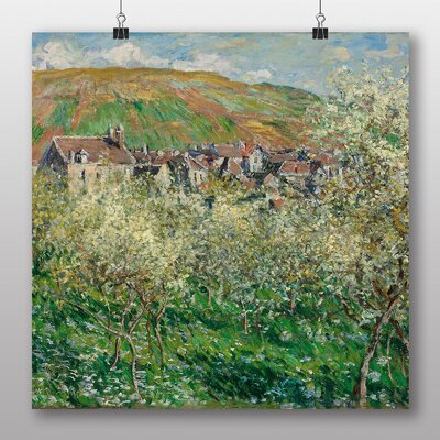 Big Box Art 'Flowering Plum Trees' by Claude Monet Art Print