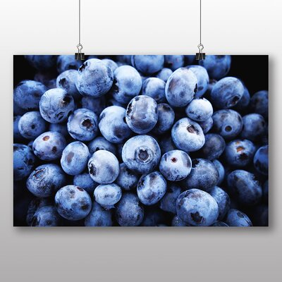 Big Box Art Blueberries Photographic Print on Canvas