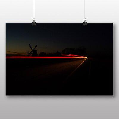 Big Box Art 'Blurred Light and Windmill' Photographic Print