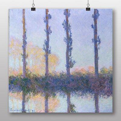 Big Box Art 'Four Trees' by Claude Monet Art Print