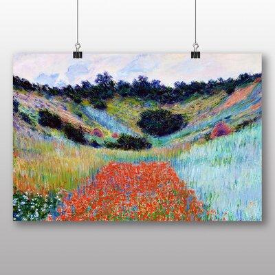 Big Box Art 'Poppy Field in a Valley' by Claude Monet Art Print