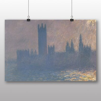 Big Box Art 'Houses of Parliment' by Claude Monet Art Print