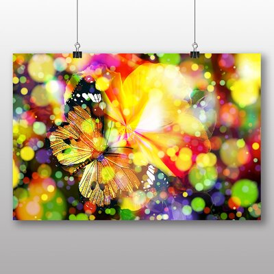 Big Box Art Butterfly Blurred Lights Photographic Print