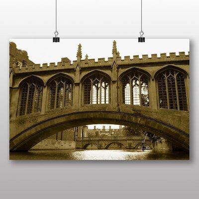 Big Box Art Bridge Cambridge No.2 Photographic Print Wrapped on Canvas