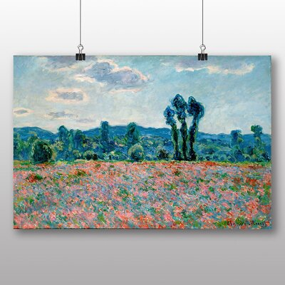 Big Box Art 'Poppy Field in Giverny' by Claude Monet Art Print