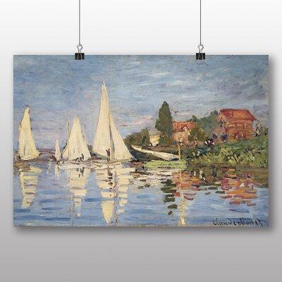 Big Box Art 'Regattas at Argenteuil No.1' by Claude Monet Art Print