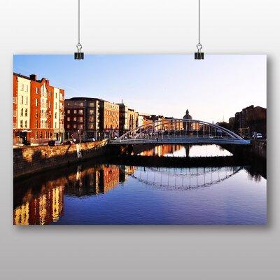 Big Box Art Bridge Dublin Ireland Photographic Print Wrapped on Canvas