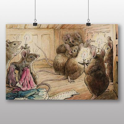 "Big Box Art ""The Mice Listening"" by Beatrix Potter Art Print Wrapped on Canvas"