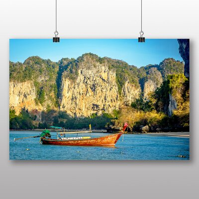 Big Box Art Boats in Thailand No.4 Photographic Print Wrapped on Canvas