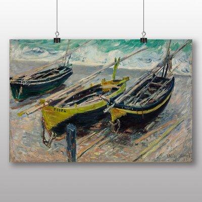 Big Box Art Three Fishing Boats' by Claude Monet Art Print