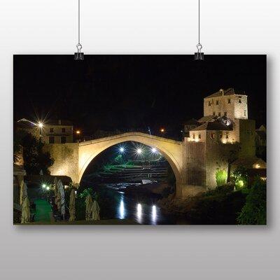 Big Box Art Bosnia and Herzegovina Bridge No.3 Photographic Print on Canvas