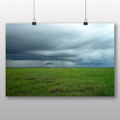 Big Box Art 'Cloudy Sky and Field' Photographic Print