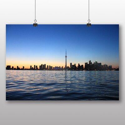Big Box Art CN Tower Toronto Canada No.1 Photographic Print Wrapped on Canvas