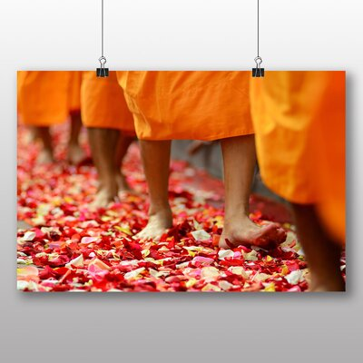Big Box Art Buddhism Monks Photographic Print on Canvas