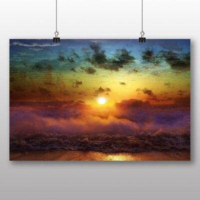 Big Box Art Clouds Beach Rainbow Sunset Photographic Print