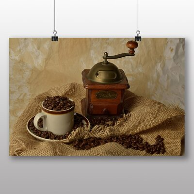 Big Box Art Coffee Grinder Photographic Print Wrapped on Canvas
