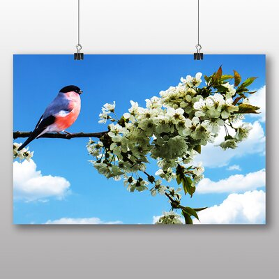 Big Box Art Bullfinch Graphic Art Wrapped on Canvas