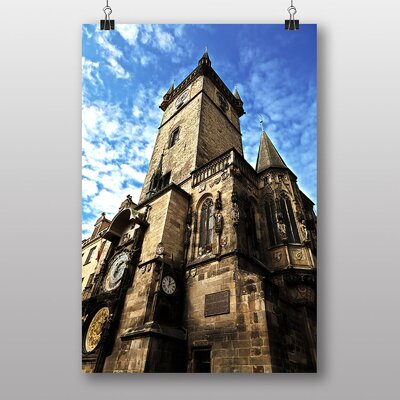 Big Box Art City Hall Prague Photographic Print Wrapped on Canvas