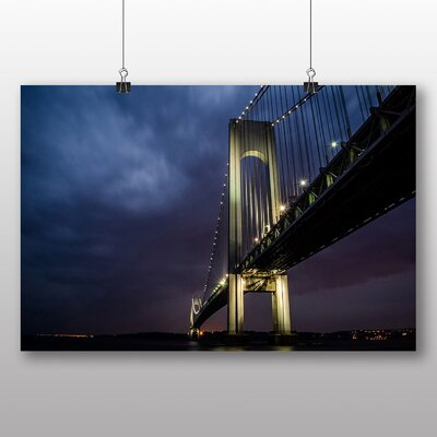 Big Box Art Brooklyn Bridge New York USA No.3 Photographic Print Wrapped on Canvas