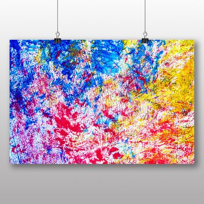 Big Box Art Colourful Paint Splash Abstract No.5 Graphic Art on Canvas