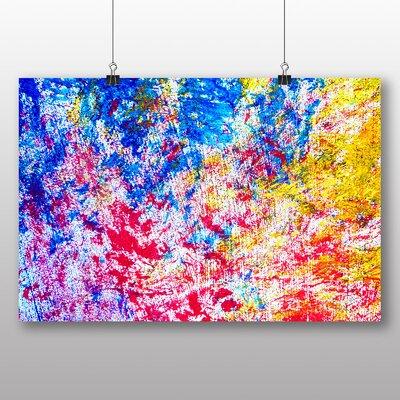 Big Box Art Colourful Paint Splash Abstract No.5 Art Print