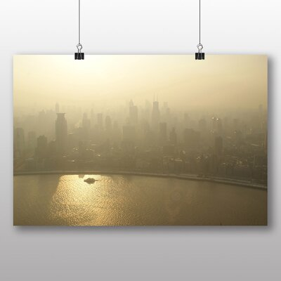 Big Box Art City Skyline Photographic Print Wrapped on Canvas