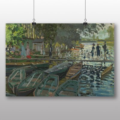 Big Box Art 'Bathers at La Grenouillere' by Claude Monet Art Print