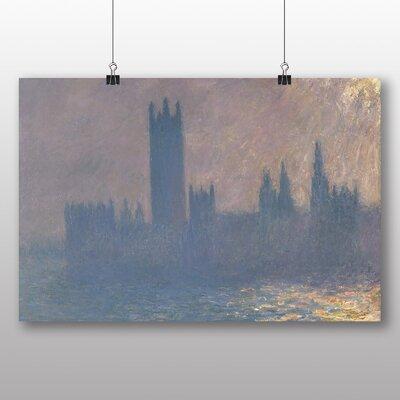 Big Box Art 'Houses of Parliment No.2' by Claude Monet Art Print