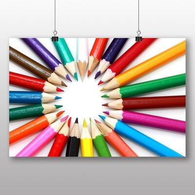 Big Box Art Coloured pencils Abstract Photographic Print