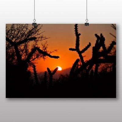 Big Box Art Cactus Sunset No.6 Photographic Print Wrapped on Canvas