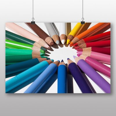 Big Box Art 'Colourful Pencil Crayons No.1' Photographic Print
