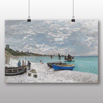 Big Box Art 'The Beach at Sainte Adresse No.1' by Claude Monet Art Print