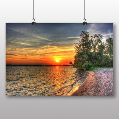 Big Box Art Castlerock Sunset Photographic Print Wrapped on Canvas