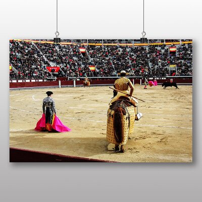 Big Box Art Bullfight Bullfighting Ring No.2 Photographic Print Wrapped on Canvas