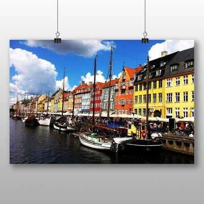 Big Box Art Copenhagen Denmark Canal Photographic Print Wrapped on Canvas
