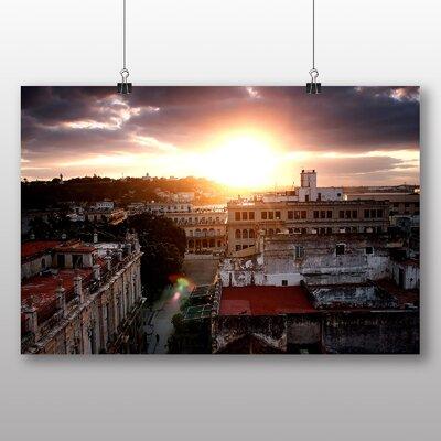 Big Box Art Cuba Skyline No.1 Photographic Print Wrapped on Canvas